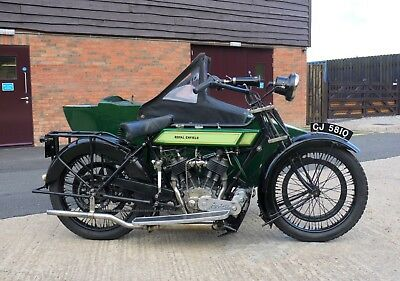 1923 Royal Enfield Model 190 Combination, 8HP 976cc V Twin Vintage Motorcycle
