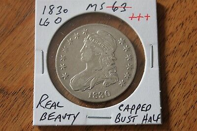 1830   Large O   Unc+++  Capped Bust Half Dollar