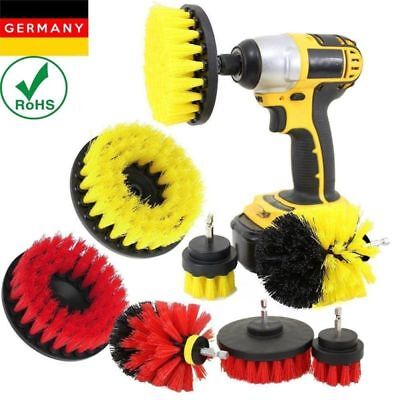 3Pcs Home Tile Grout Power Scrubber Cleaner Tool Cleaning Drill Brush Tub Set
