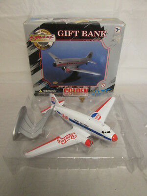 Golden Classics Die Cast Plane Gift Bank / Pepsi Logo #87308 / in Box!