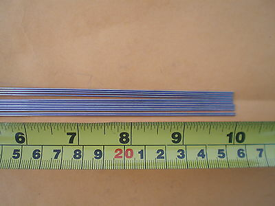 """50 Stainless Steel Straight Lure Shaft Wire Form 0.039 X 10"""" Inches Long"""