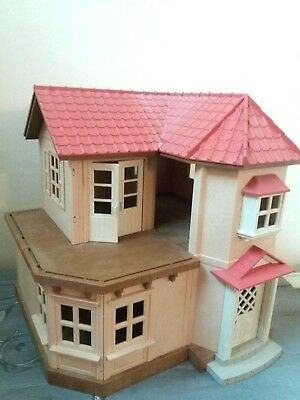 Vintage Sylvanian Families Willow Hall ~ Beechwood House with working Light
