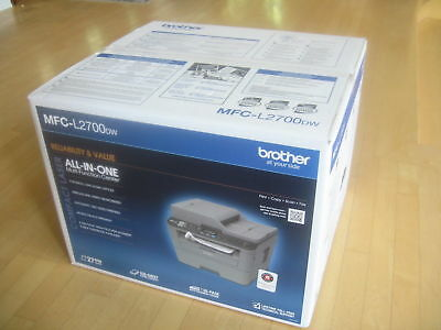Brand New Brother MFC-L2700DW Wireless B&W All-in-One Laser Printer Retail Box