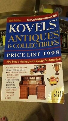 Kovel's Antiques & Collectibles Price List 1998 30th Ed. PB