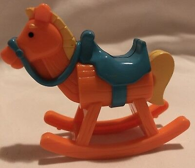 Rocking Horse Dollhouse Furniture Kids Room Toy Nursery
