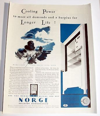 Norge Rollator Refrigerator Plus Cooling Power Longer Life 1930