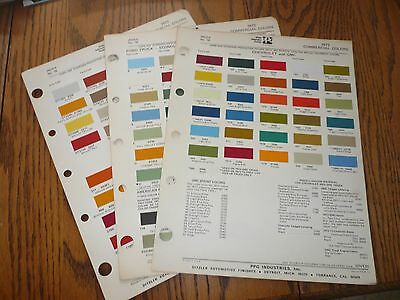 1973 Chevy GMC Ford Jeep Intern'l Dodge  Commercial Ditzler PPG Paint Chips