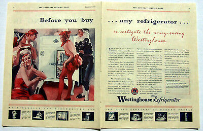 Westinghouse Refrigerator ad 1931 Masquerade Party 2 page ad
