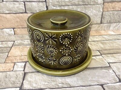 Vintage Portmeirion  Totem Green Cheese Dish