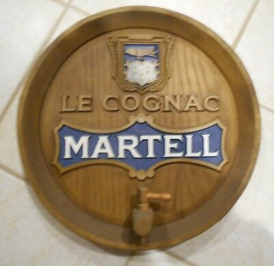 Vintage Martell Cognac Faux Barrel Sign Advertising Display *REDUCED TO SELL*