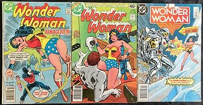 Lot Of 3 Wonder Woman Comics (Dc,1977-1985) #236, 256, 324 Bronze/copper Age ~