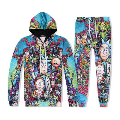 Anime Rick and Morty 3D Printed Hooded Sweatershirt Unisex Sportswear Pants Gift