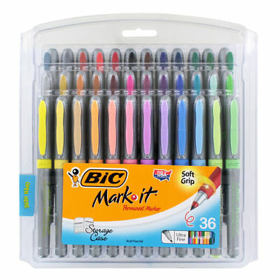 BIC Marking Permanent Marker Fashion Colors, Ultra Fine Point, 36-Count