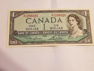 1954 Bank of Canada 1 Dollar Note