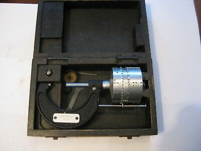 Rare Braille Micrometer,  Moore  & Wright  1---2Inch