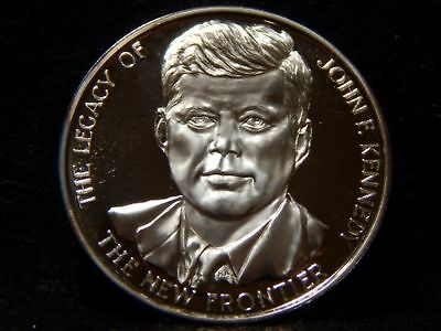 "John F. Kennedy Medal .999 Silver ""The New Frontier"" ...39mm ........... RC1432"