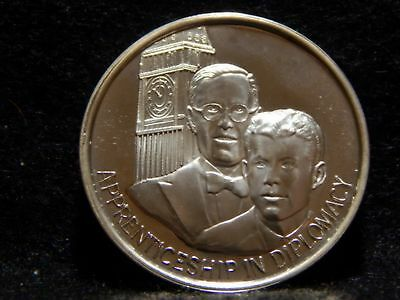 "John F. Kennedy Medal .999 Silver ""Apprenticeship in Diplomacy""  39mm  ...RC1437"