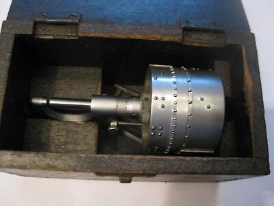 Rare Braille Micrometer,  Moore & Wright  0--1 Inch