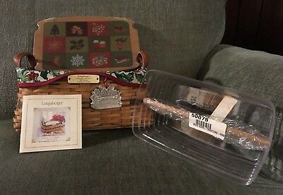 2002 Longaberger Christmas Traditions Basket Lid Liner Protector Pewter Ornament