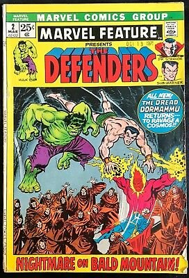 Marvel Feature Presents The Defenders Comic (Marvel,1972) #2 Bronze Age ~