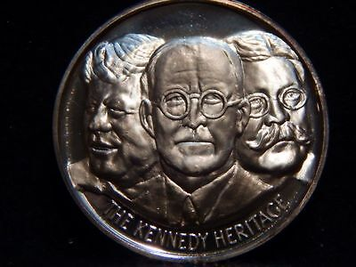"John F. Kennedy Medal .999 Silver ""The Kennedy Heritage""  39mm  ...RC1439"