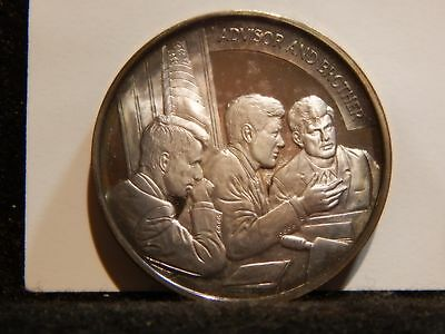 "John F. Kennedy Medal .999 Silver ""Advisor and Brother""  39mm  ...RC1441"