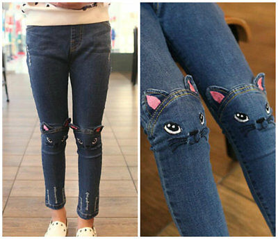 Kids baby Toddler girls clothing Jeans trousers denim pants girls skinny jeans