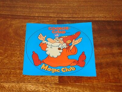 RARE! 1979 Ralston Cookie Crisp Cereal Box Premium Magic Club Record Wizard