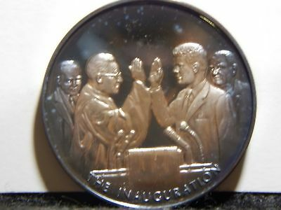 "John F. Kennedy Medal .999 Silver ""The Inauguartion""  39mm  ...RC1447"