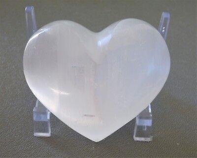 Large Selenite Puffy Heart 65MM Morocco Protection and Calming SHG017