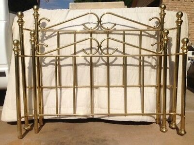 Full Size, Good Condition, Solid Brass Bed Frame with Rails and Slats