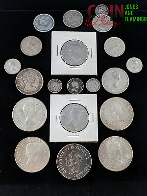 Lot Of 20 Canada Silver Coins - Assorted Denominations & Conditions #6047