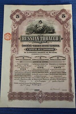 Russian Tobacco Company - Uncancelled, Coupons -
