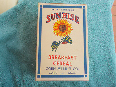 SCARCE—NOS 2 lb Sunrise Breakfast Cereal Box