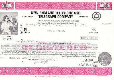New England Telephone and Telegraph Comp., 1975 - 5000 $ -
