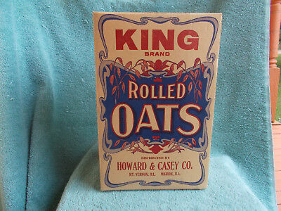 SCARCE—NOS King Brand Rolled Oats Box