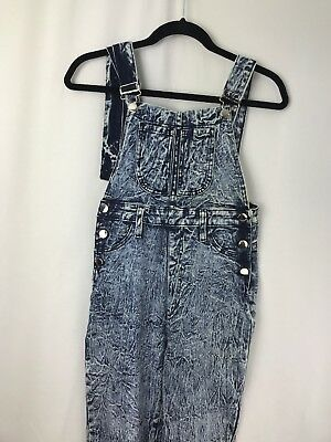 Aphrodite Women's /Juniors Overall/Jumpsuits Denim Acid Wash Sz 11 Made USA