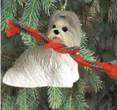 Shih Tzu Puppy Mixed Color Dog Tiny Ones Miniature Christmas Holiday ORNAMENT