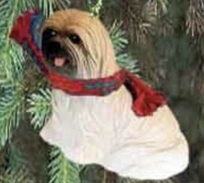 Lhasa Also Brown Sport Cut Dog Tiny Ones Miniature Christmas Holiday ORNAMENT