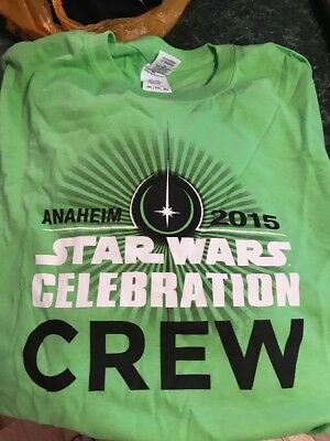 STAR WARS T-SHIRT Anaheim 2015 Celebration CREW Men's XXL 2XL LUCAS FILM LTD NEW