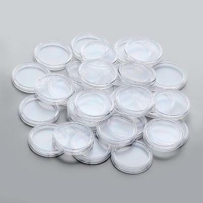 COIN CAPSULES - ALL INTERNAL SIZES 14mm - 42mm (10, 30, 50, 100pcs)