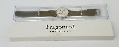 Fragonard Watch Green Canvas Strap Montre Bonheur Pre Owned