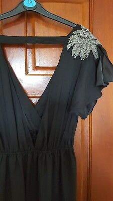 Black Jarlo embellished size 12 maxi dress
