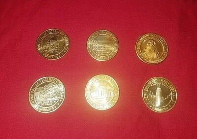 Harrah's Limited Edition Seven Wonders of The World $2 chips almost complete set