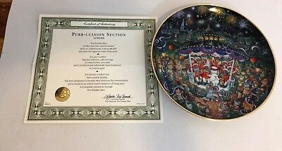 Franklin Mint Purr-Cussion Section Cat Collector Plate Artist Bill Bell 8""