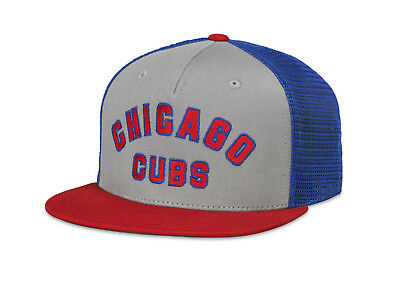 3552d00a5ae Chicago Cubs MLB American Needle Cooperstown Gatekeeper Flat Brim Mesh Hat
