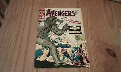 The Avengers  #37 1967 scarce British cover price silver age  Marvel comics