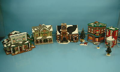 Dept 56 Snow Village New Hope Church Gracie's Store Saturday Stick Style House