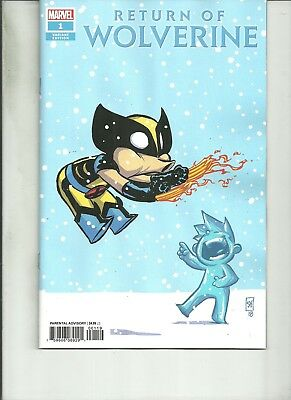 Return Of Wolverine #1 Skottie  Young Variant Nm 1St Print 2018 Marvel Comics