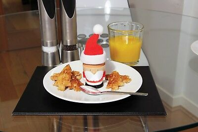 Festive Santa Egg Cup and Toast Cutter - Xmas Novelty GIft Father Chritmas